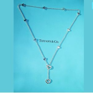 Tiffany and Co Heart Lariat Necklace
